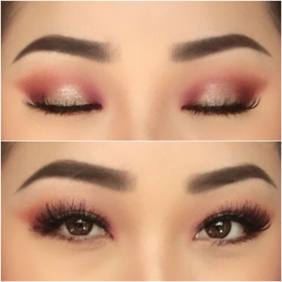 soft burgundy eye makeup tutorial