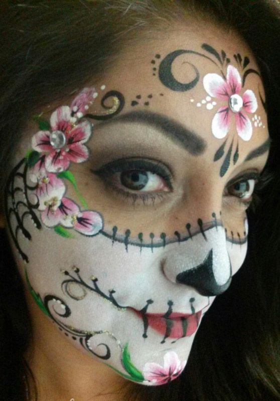 skull face paint tutorial