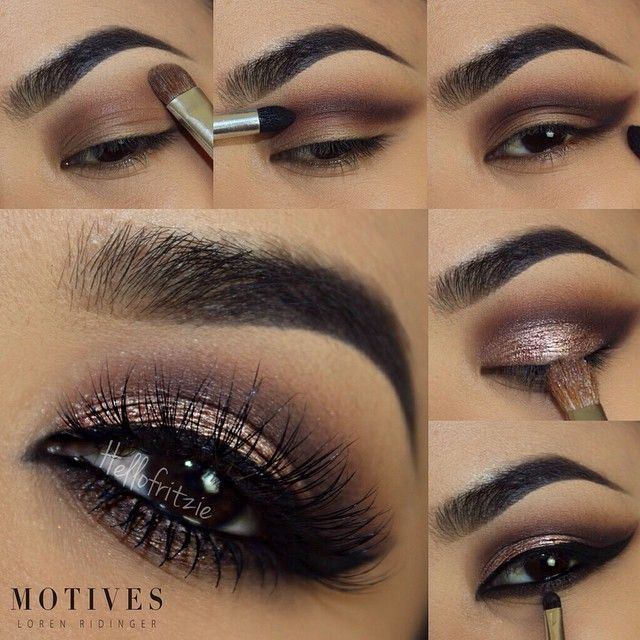 black and brown eyeshadow tutorial