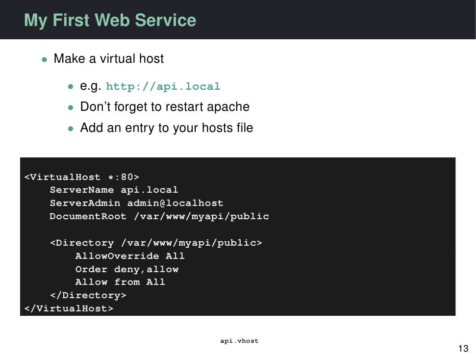 php web service tutorial