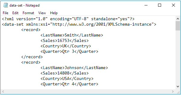 xml tutorial with examples