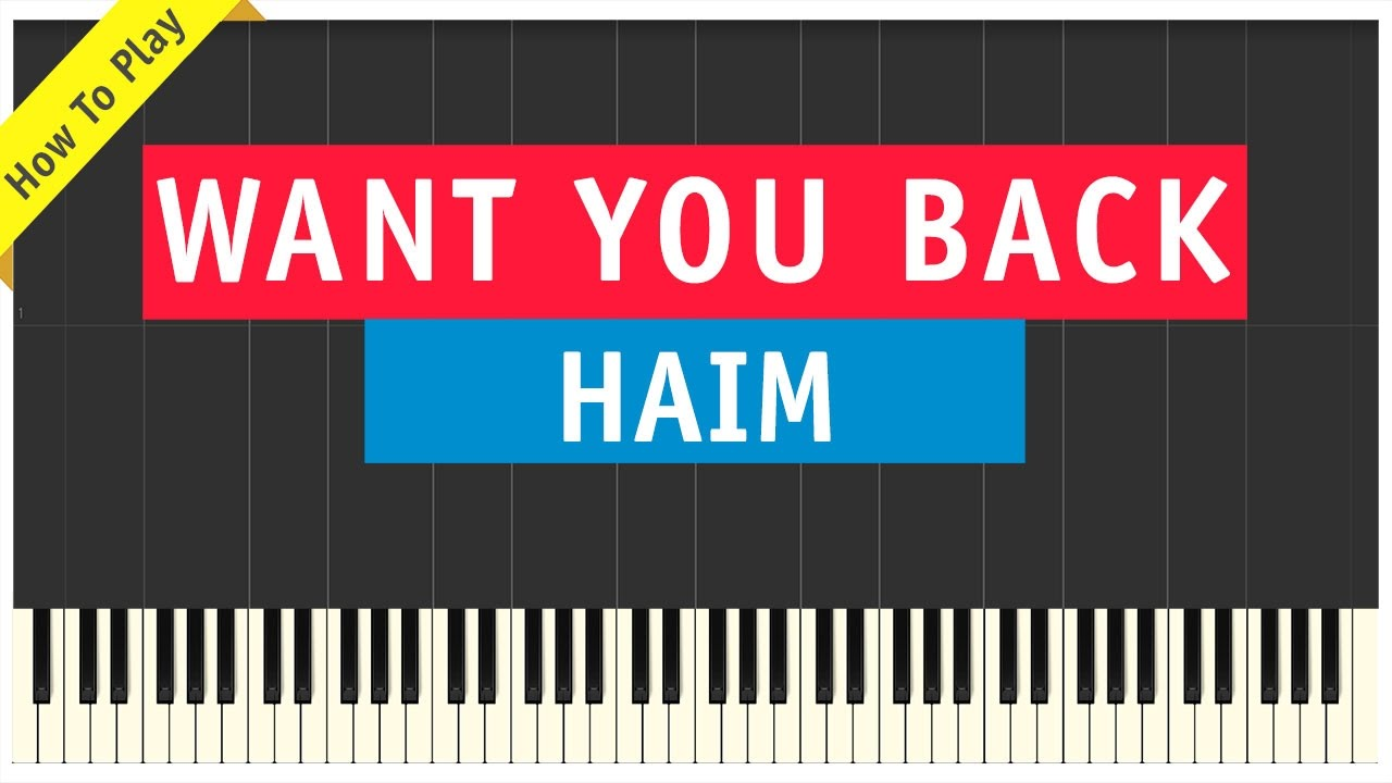i want you back piano tutorial