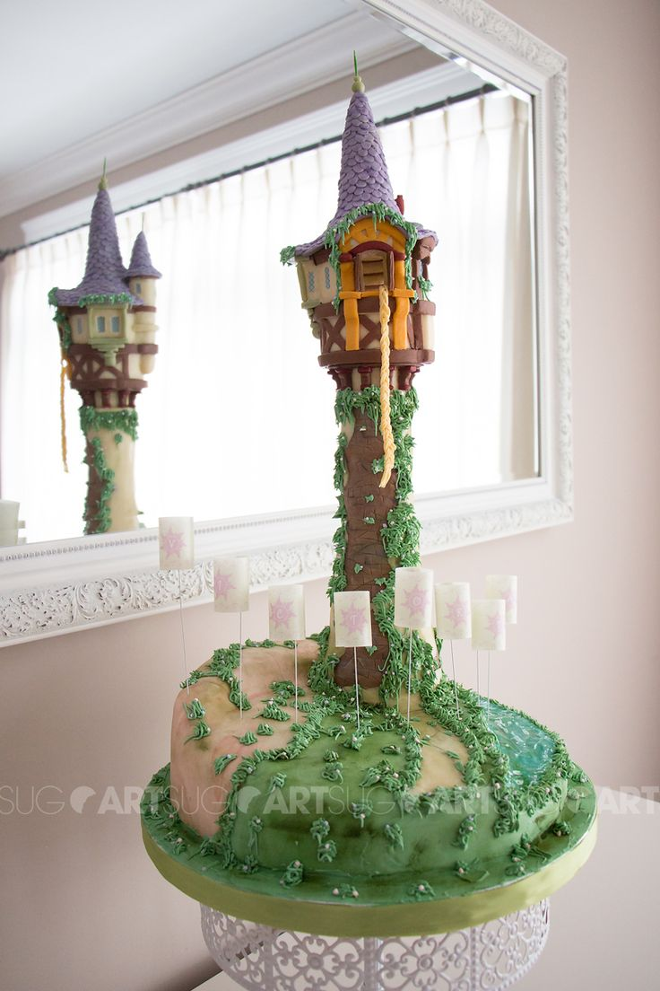 rapunzel tower cake tutorial
