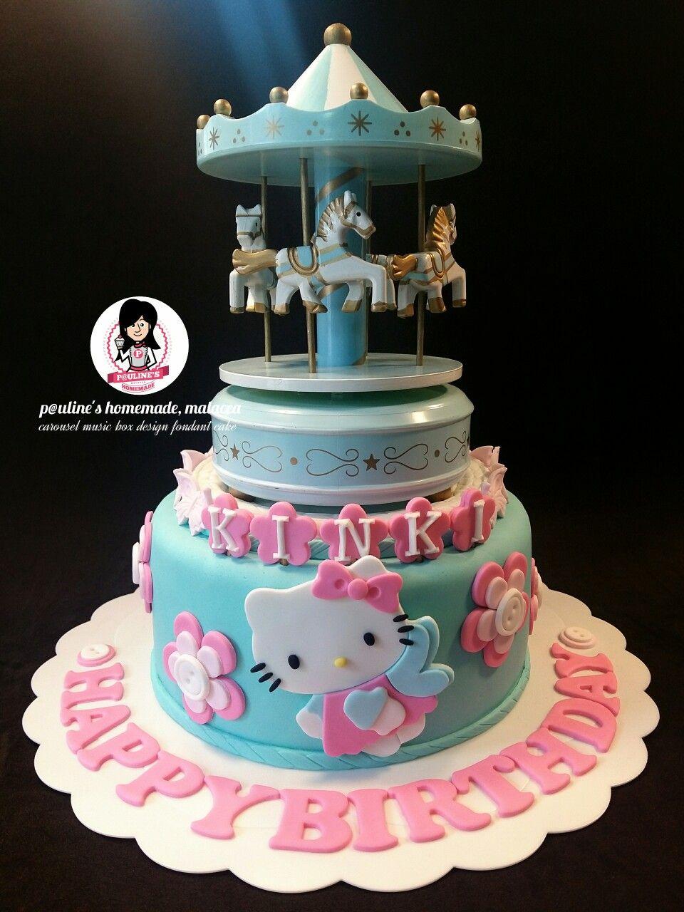 carousel fondant cake tutorial