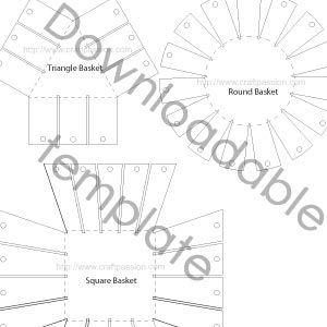 woven paper basket tutorial