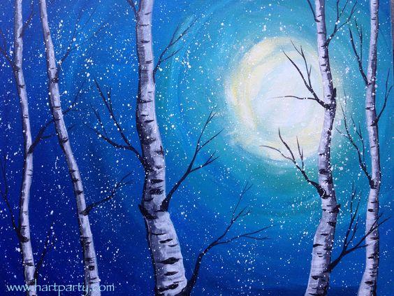 birch tree painting tutorial
