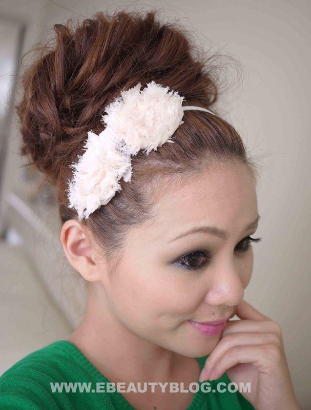 wedding hair bun tutorial