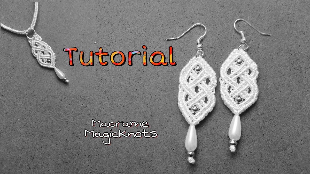 macrame earrings tutorial youtube