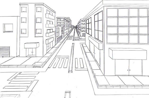 1 point perspective tutorial