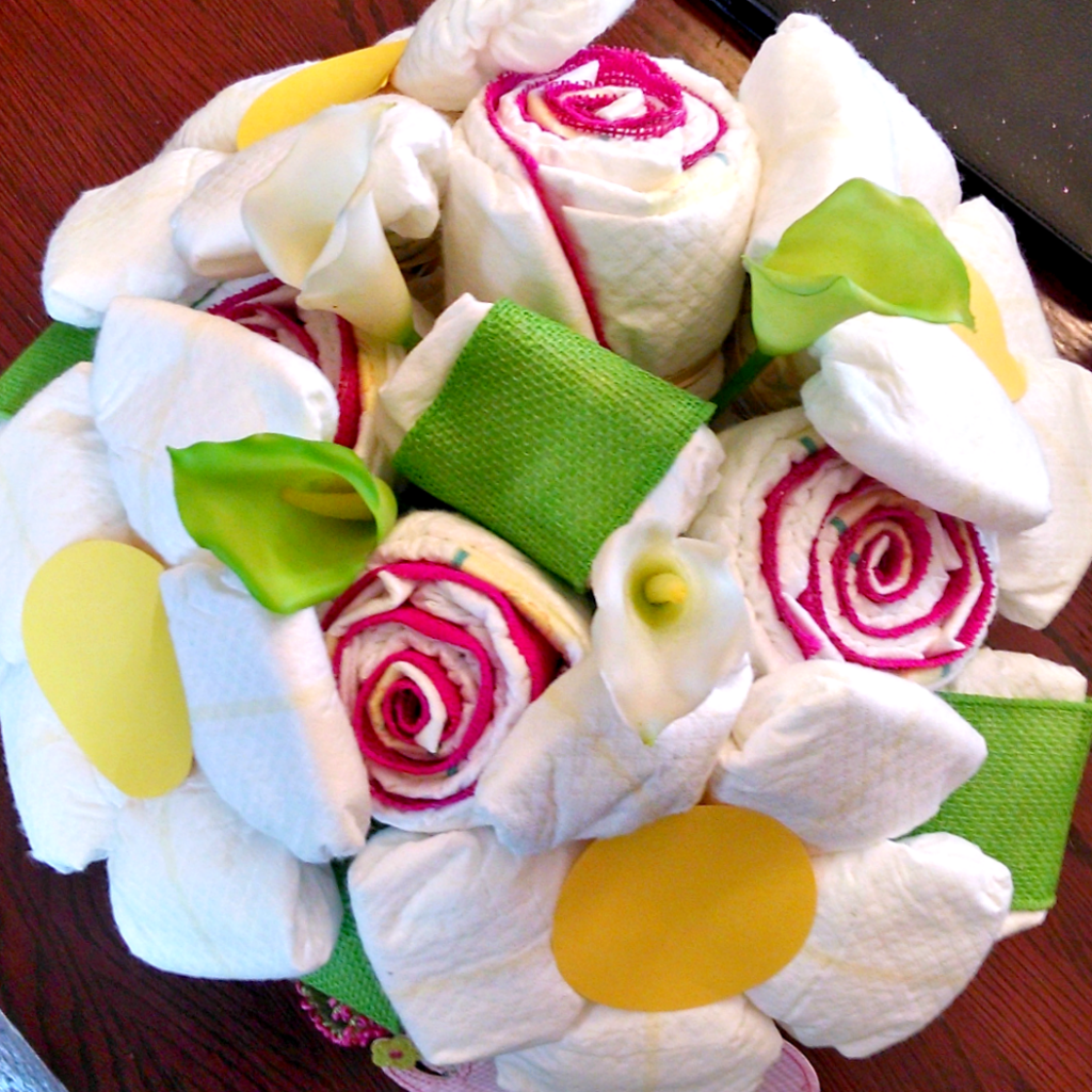 baby clothes bouquet tutorial