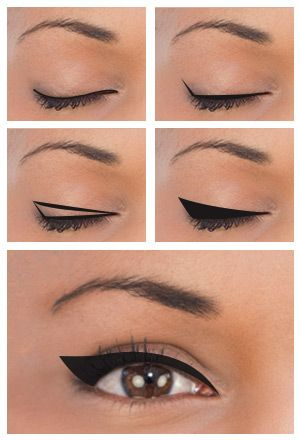 winged eyeliner tutorial hooded eyes