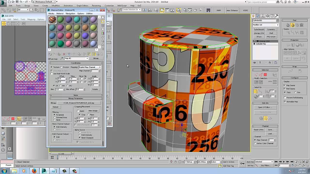3d max unwrap uvw tutorial