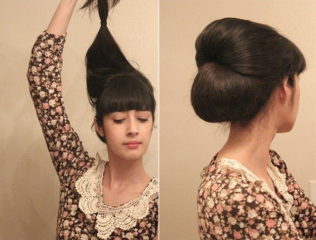 vintage long hair tutorial