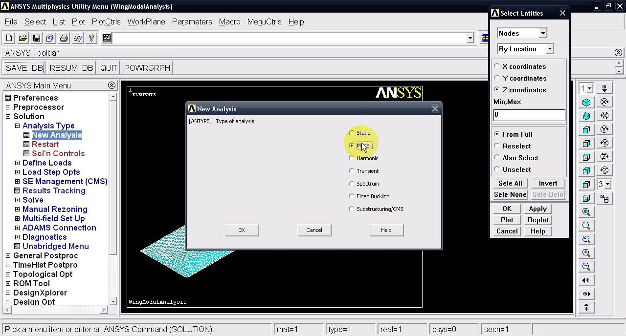ansys modal analysis tutorial