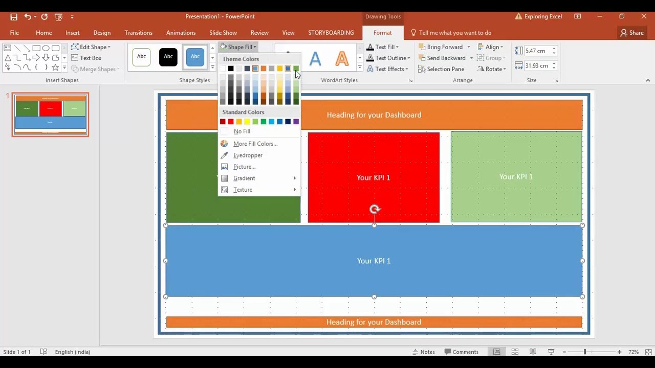 create dashboard in excel tutorial