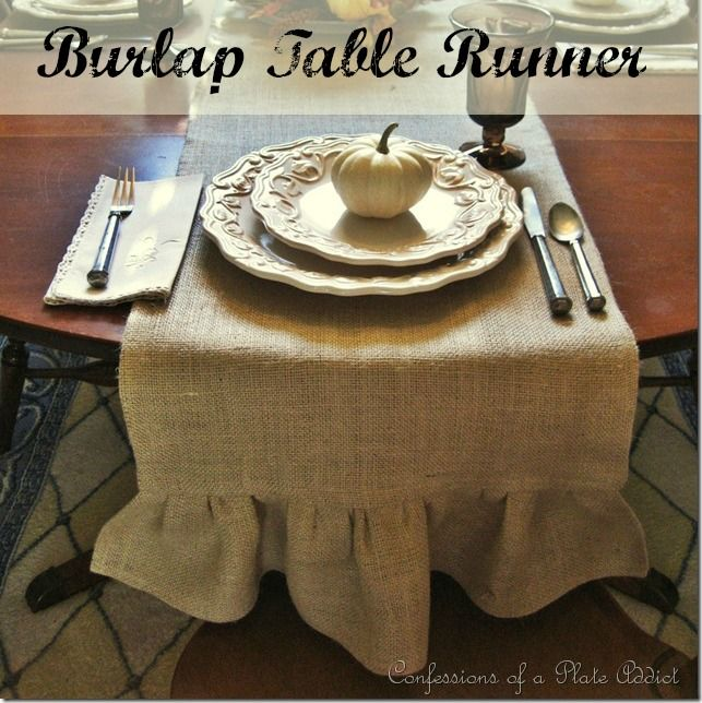 burlap table runner tutorial