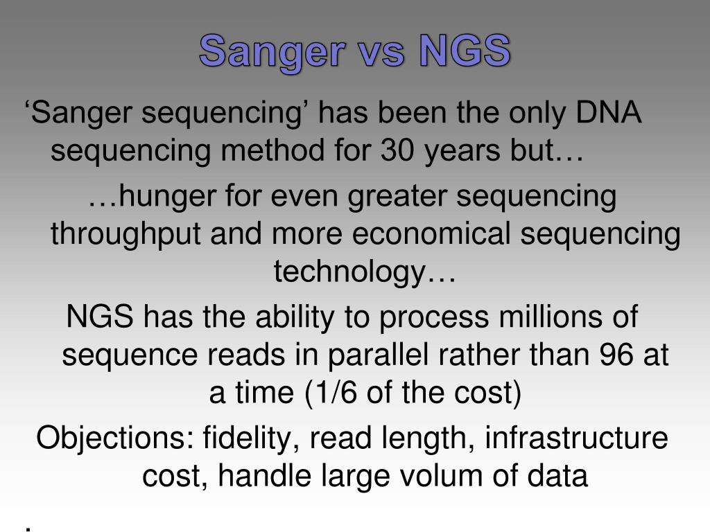 next generation sequencing tutorial ppt