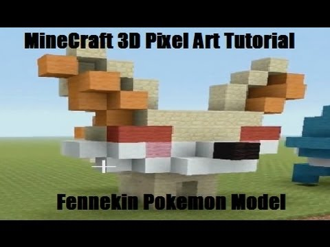 pokemon pixel art minecraft tutorial