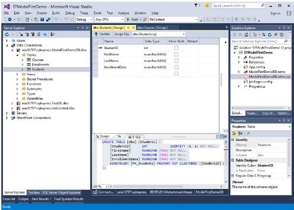 entity framework code first tutorial