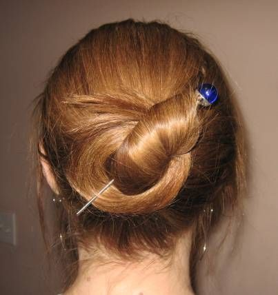 hair stick bun tutorial
