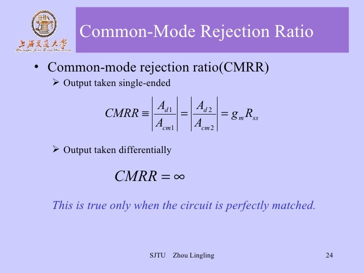 common mode rejection ratio tutorial