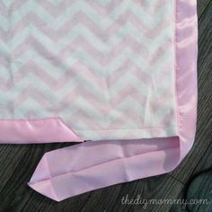 minky satin baby blanket tutorial