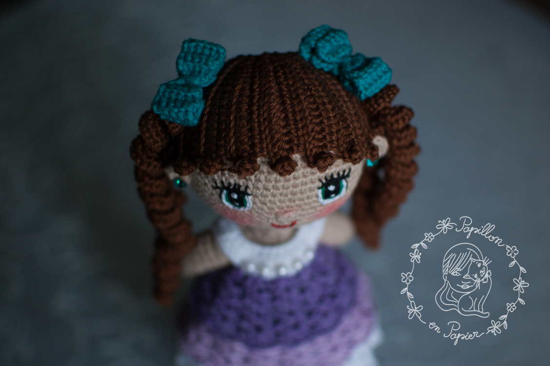amigurumi doll hair tutorial