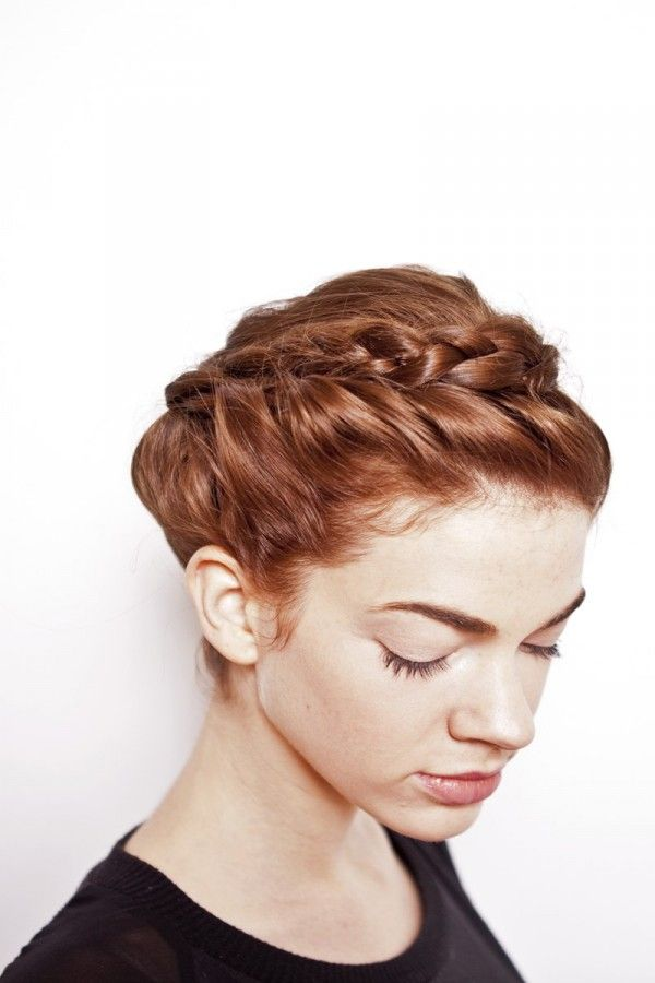 crown braid short hair tutorial