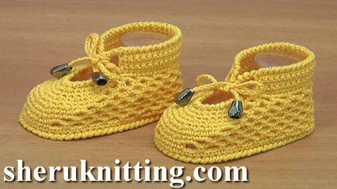 crochet baby shoes tutorial
