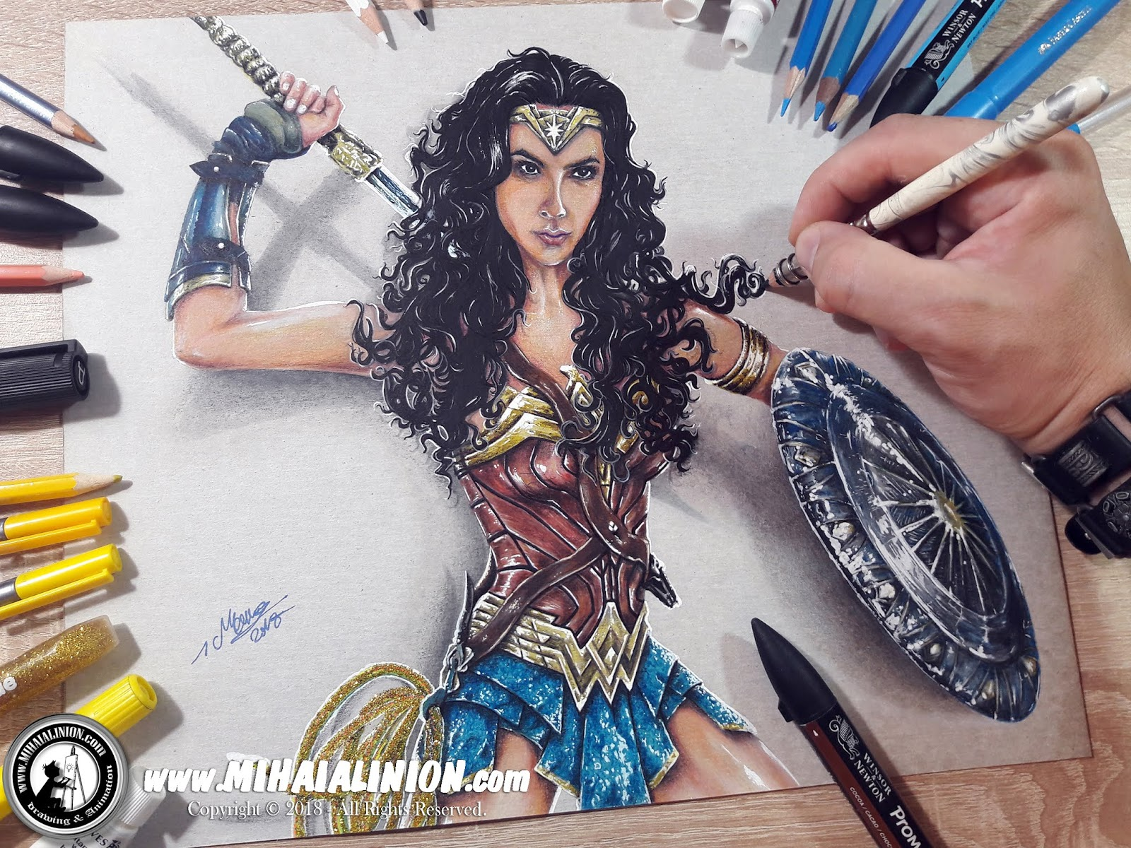 wonder woman drawing tutorial