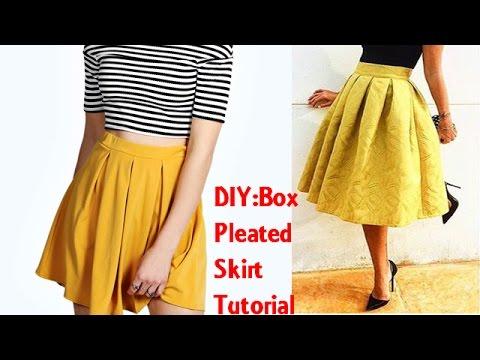knife pleated skirt tutorial