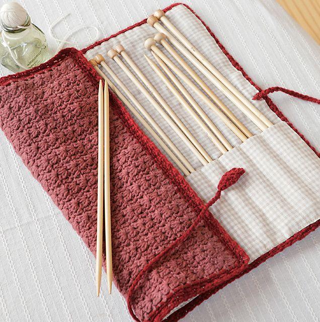 knitting needle roll tutorial