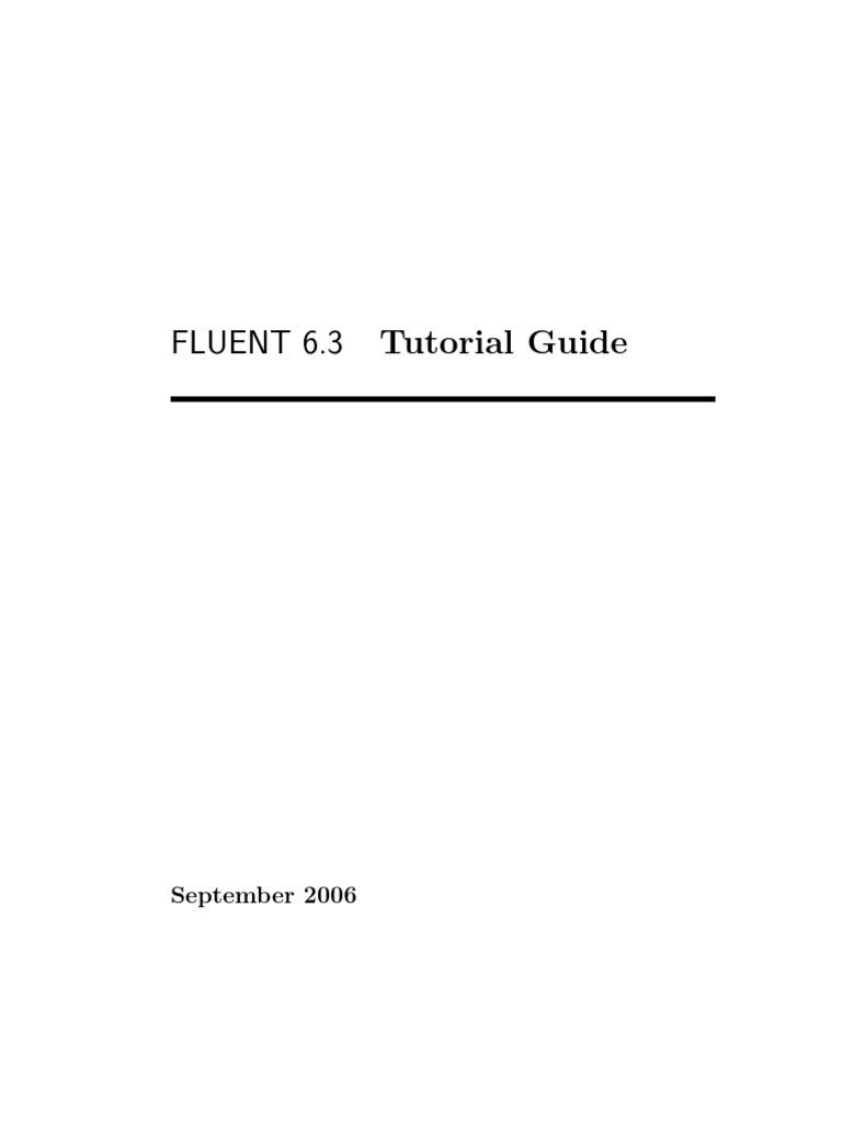 ansys fluent 14.5 tutorial pdf