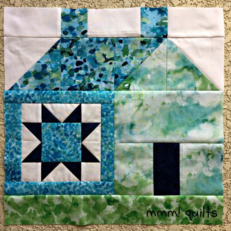 house quilt block tutorial