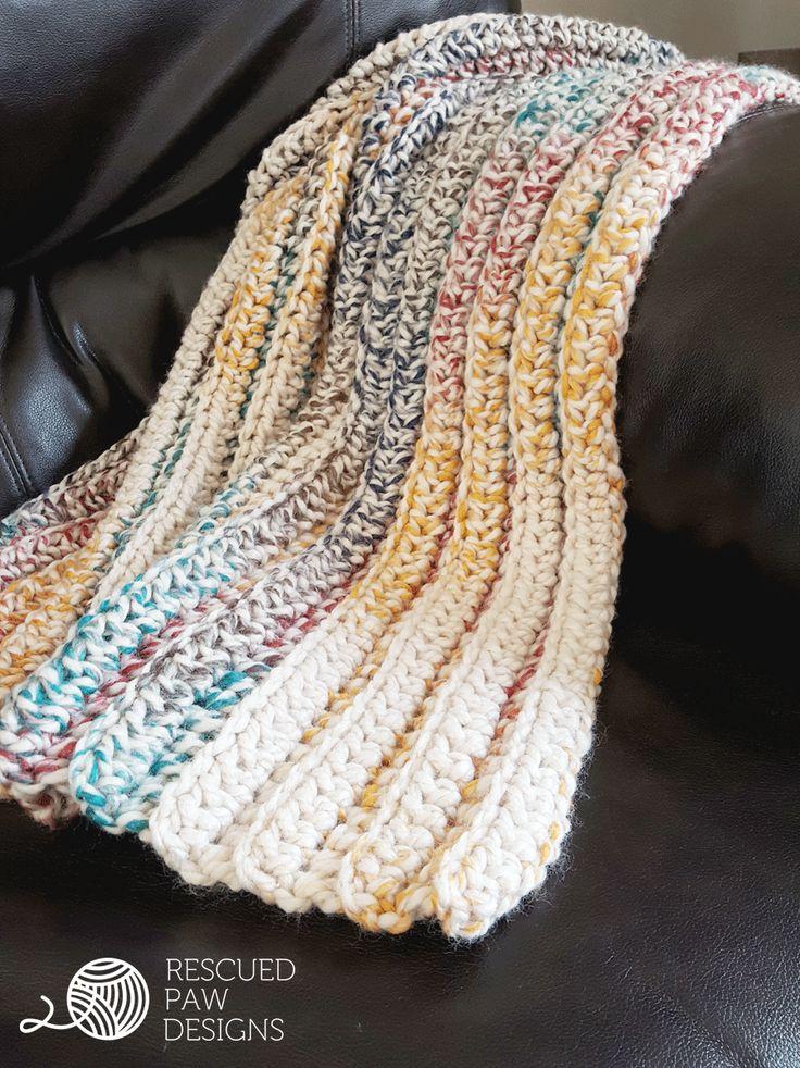 chunky crochet blanket tutorial