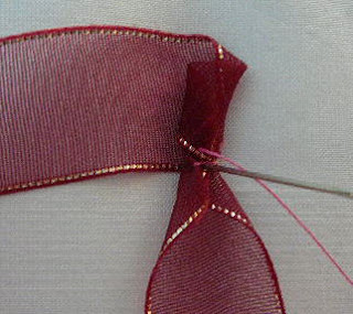 folded ribbon rose tutorial