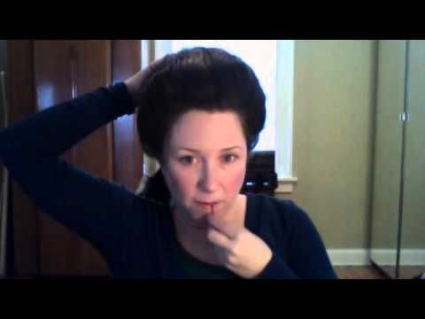18th century hair tutorial