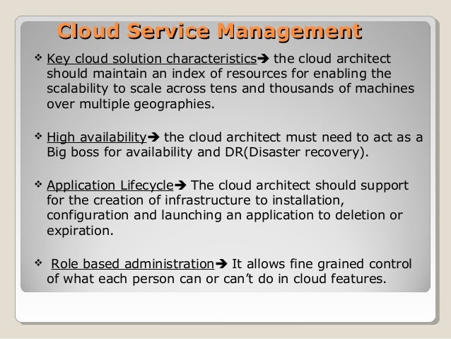 cloud service management tutorial