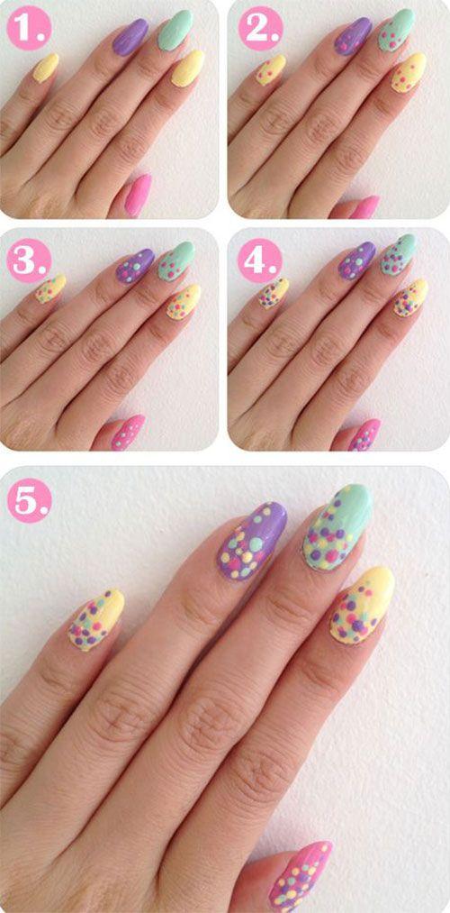 acrylic paint nail art tutorial for beginners