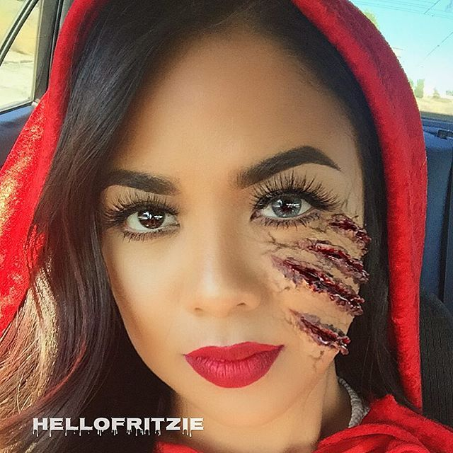 little red riding hood halloween makeup tutorial