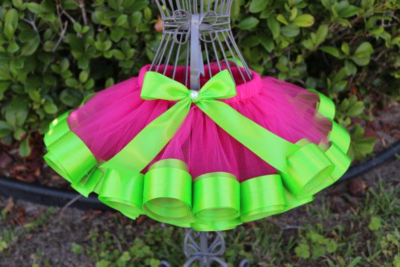 satin ribbon trim tutu tutorial