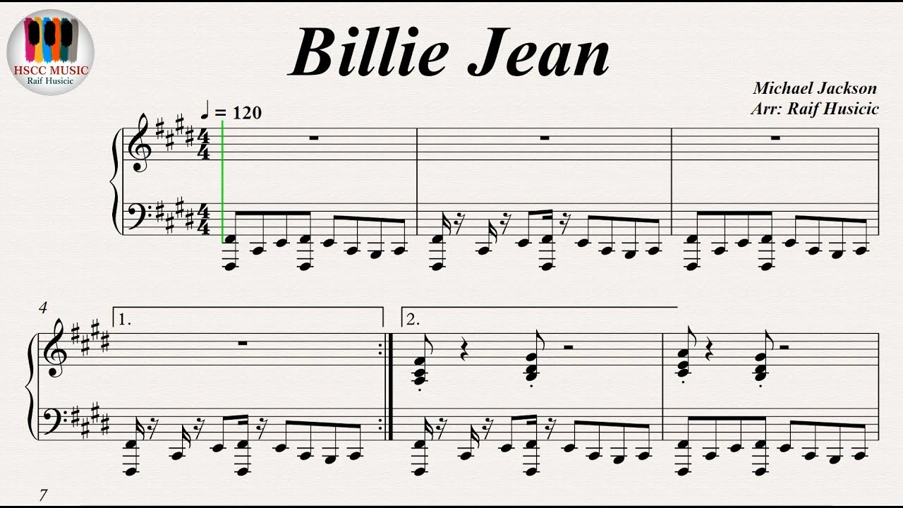 billie jean piano tutorial
