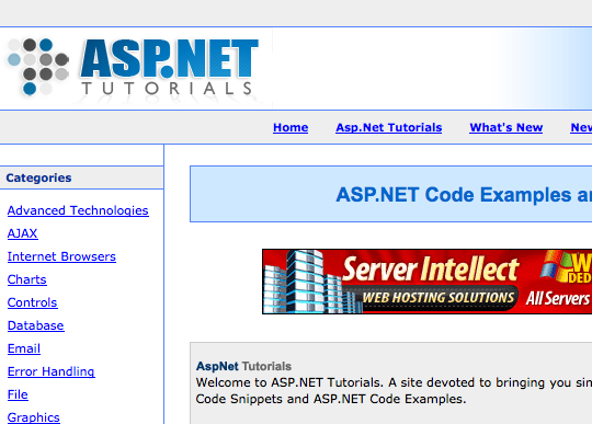 asp net development tutorial