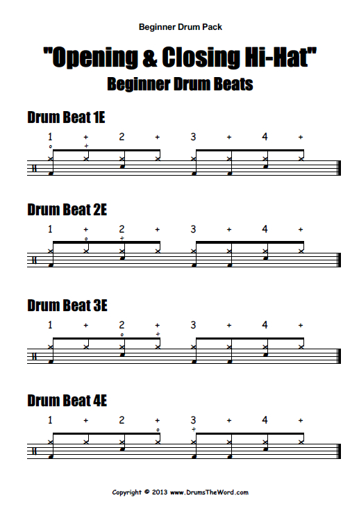 drums tutorial for beginners pdf