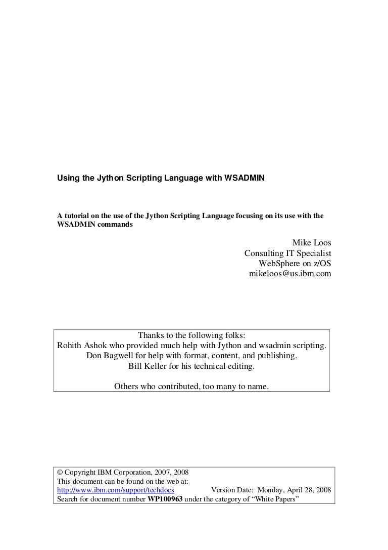 jython scripting tutorial for beginners