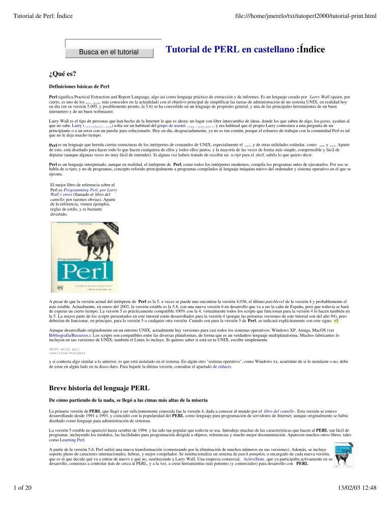 perl 6 tutorial pdf