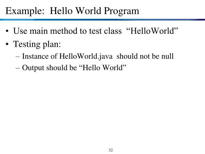 java hello world tutorial
