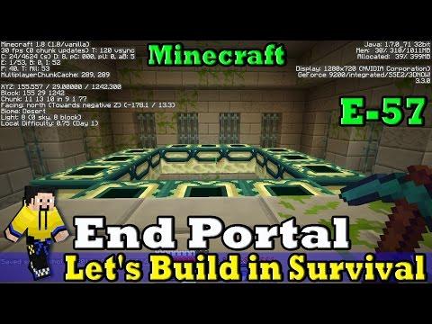 minecraft end portal tutorial