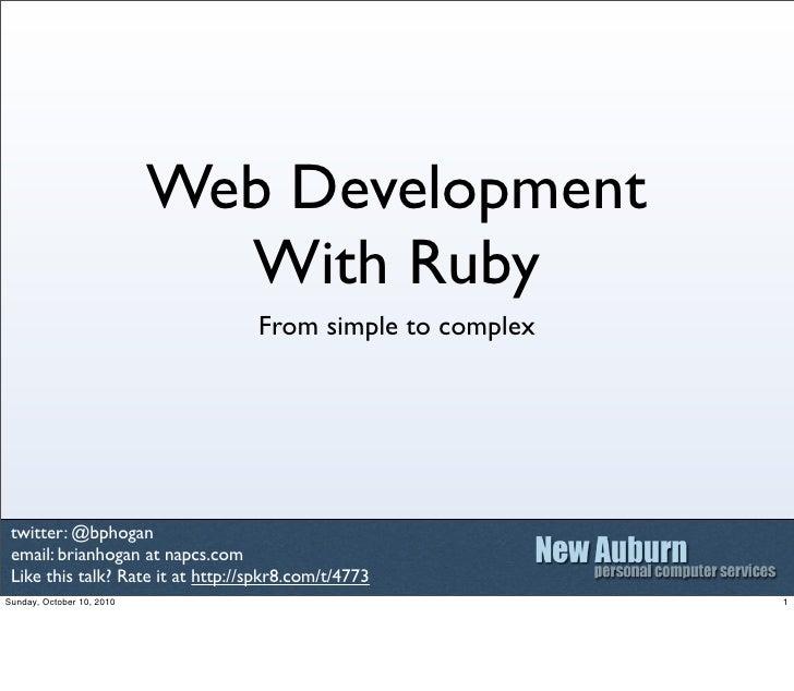 ruby web development tutorial