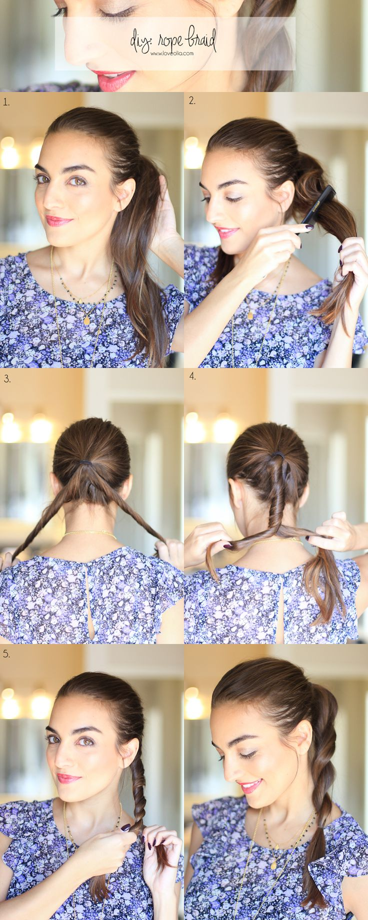 rope twist braid tutorial